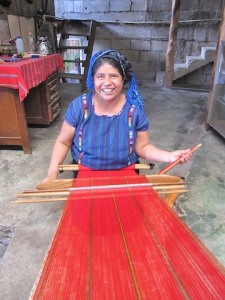 Weaving by hand in the traditional style